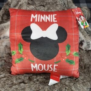 Disney Minnie Mouse Christmas red soft Pillow